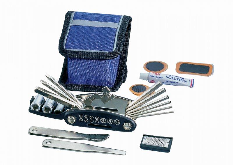 Fahrrad Reparatur Set inkl. Multifunktionswerkzeug und Tasche