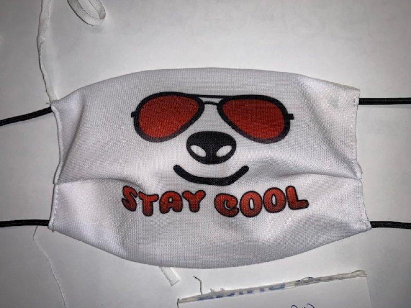 Maske mit Gummiband stay cool - wiederverwendbar
