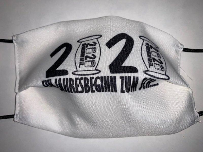 Maske mit Gummiband 2020 - wiederverwendbar