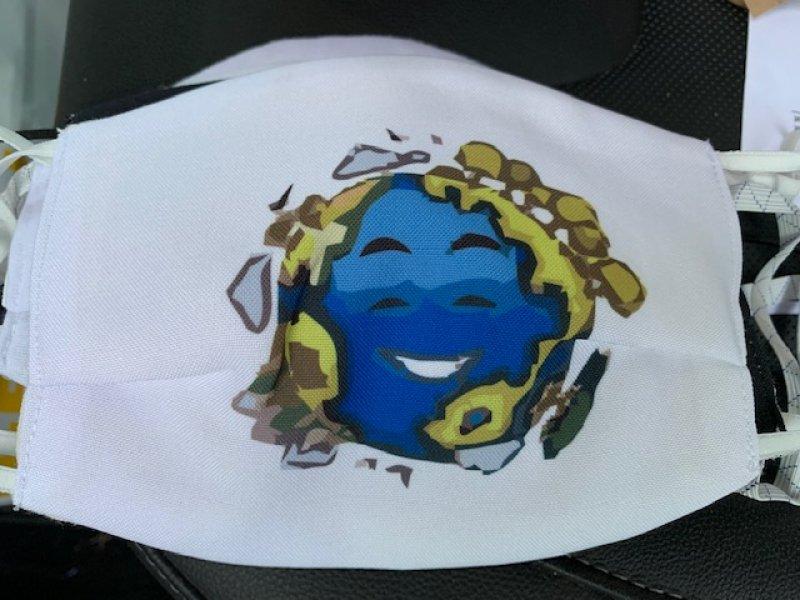 Maske mit Gummiband nice WORLD2020 - wiederverwendbar