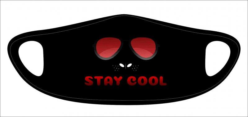 Lasermaske stay cool black - wiederverwendbar