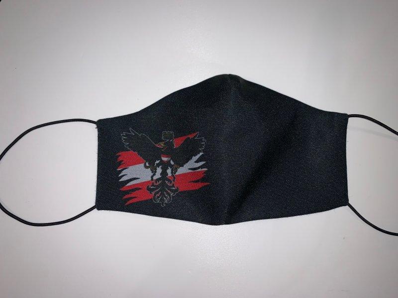 Maske mit Gummiband  Österreich1 - wiederverwendbar
