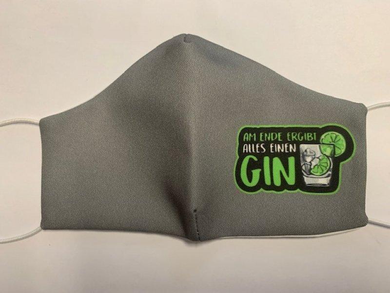Maske mit Gummiband  Gin - wiederverwendbar