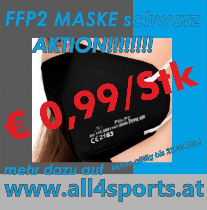 FFP2  Maske SCHWARZ CE zertifiziert