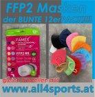 FFP2  Maske bunter 12erPack