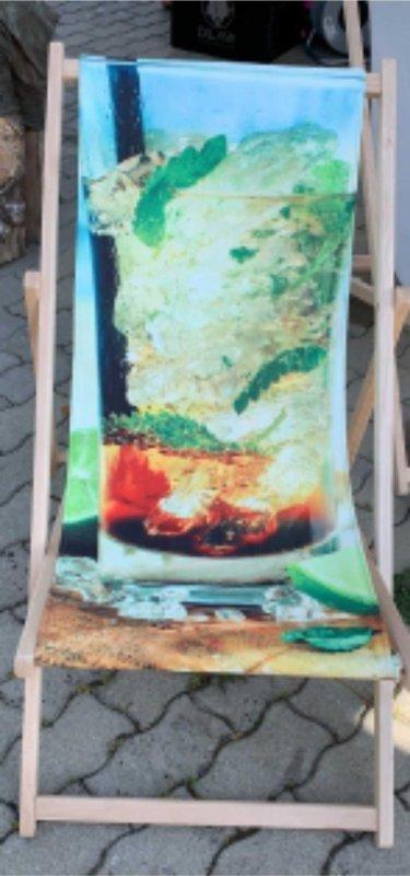 Liegestuhl bedruckt